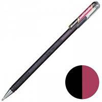 Ручка гелева Pentel двоколірна, 1 мм, чорний+червоний металік (К110-DAX)