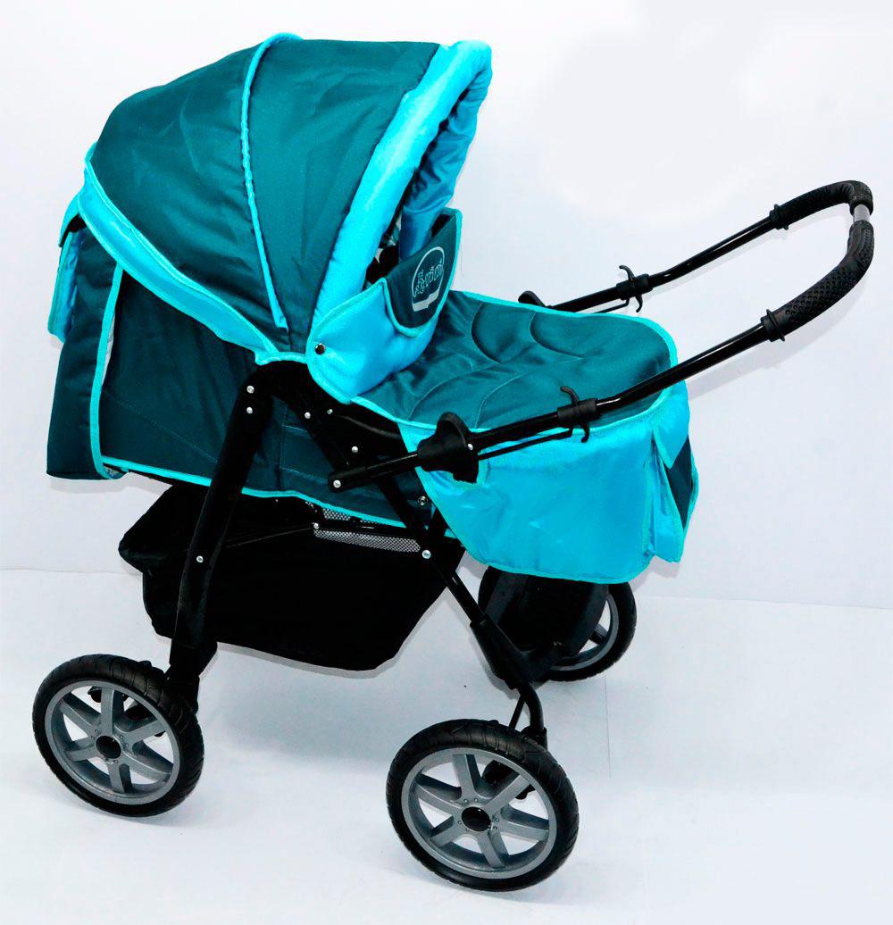 Детская коляска-трансформер Viki 86- С 70 Бирюзовая Гарантия качества Быстрая доставка