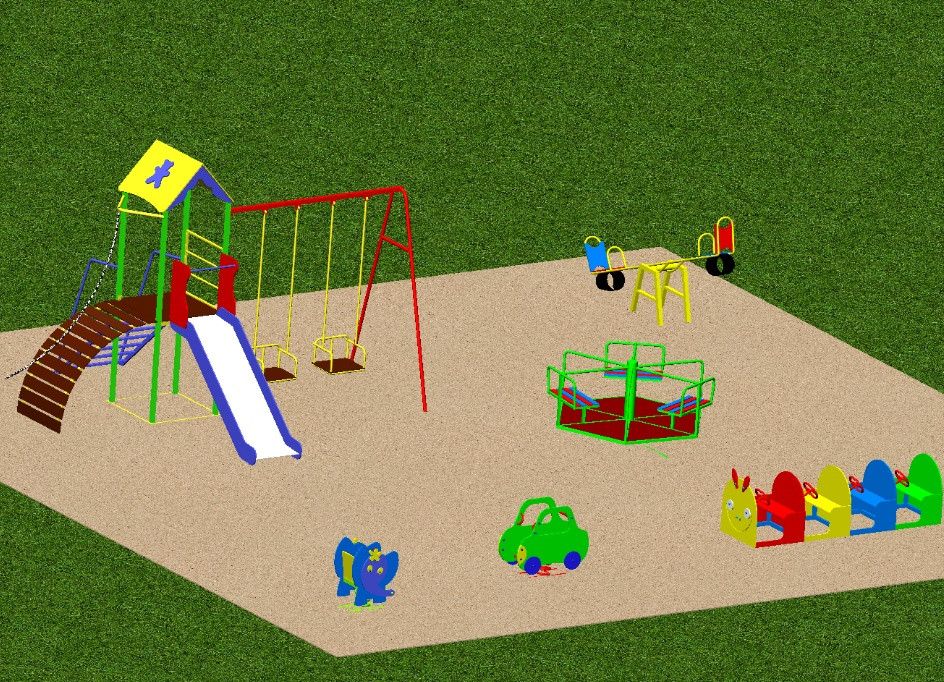 Площадка детская игровая 3
