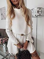 Женское свободное платье колокольчик ангора черный,белый, мокко 42-44, 44-46