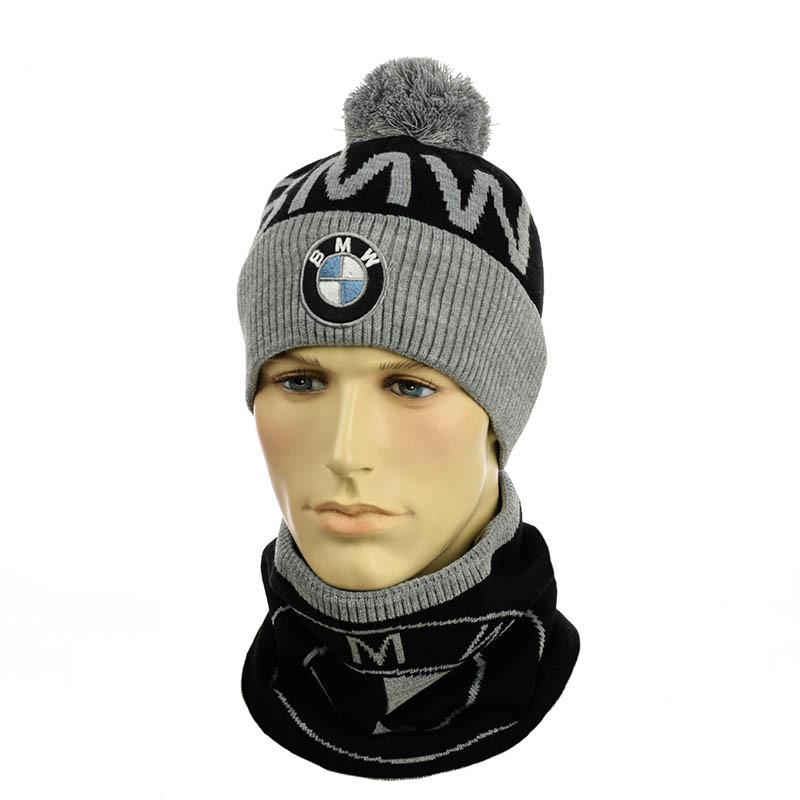 """Молодежный набор Шапка и Снуд """"BMW"""""""