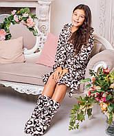 Подростковый халат Eirena Nadine (426-64 Латте)  158 164 и сапожки для дома