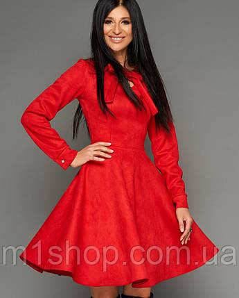 Женское замшевое расклешенное платье (Хайдиjd), фото 2