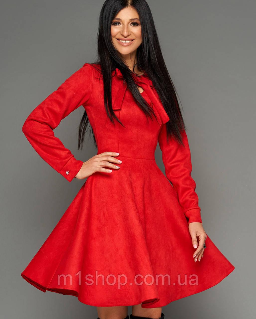 Женское замшевое расклешенное платье (Хайдиjd)