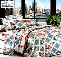 Бязь  Евро комплект постельного белья 200х215см