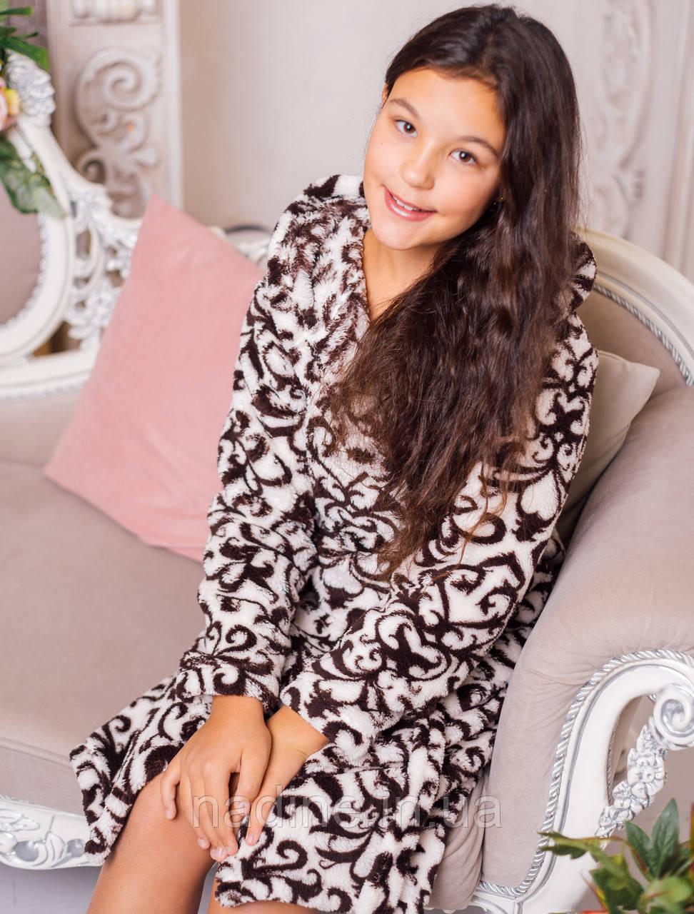 Подростковый Халат Eirena Nadine (46-426) рост 146 молочный