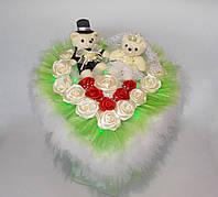 "VIP Букет ""Wedding day"" - подарок на Свадьбу с LED подсветкой"