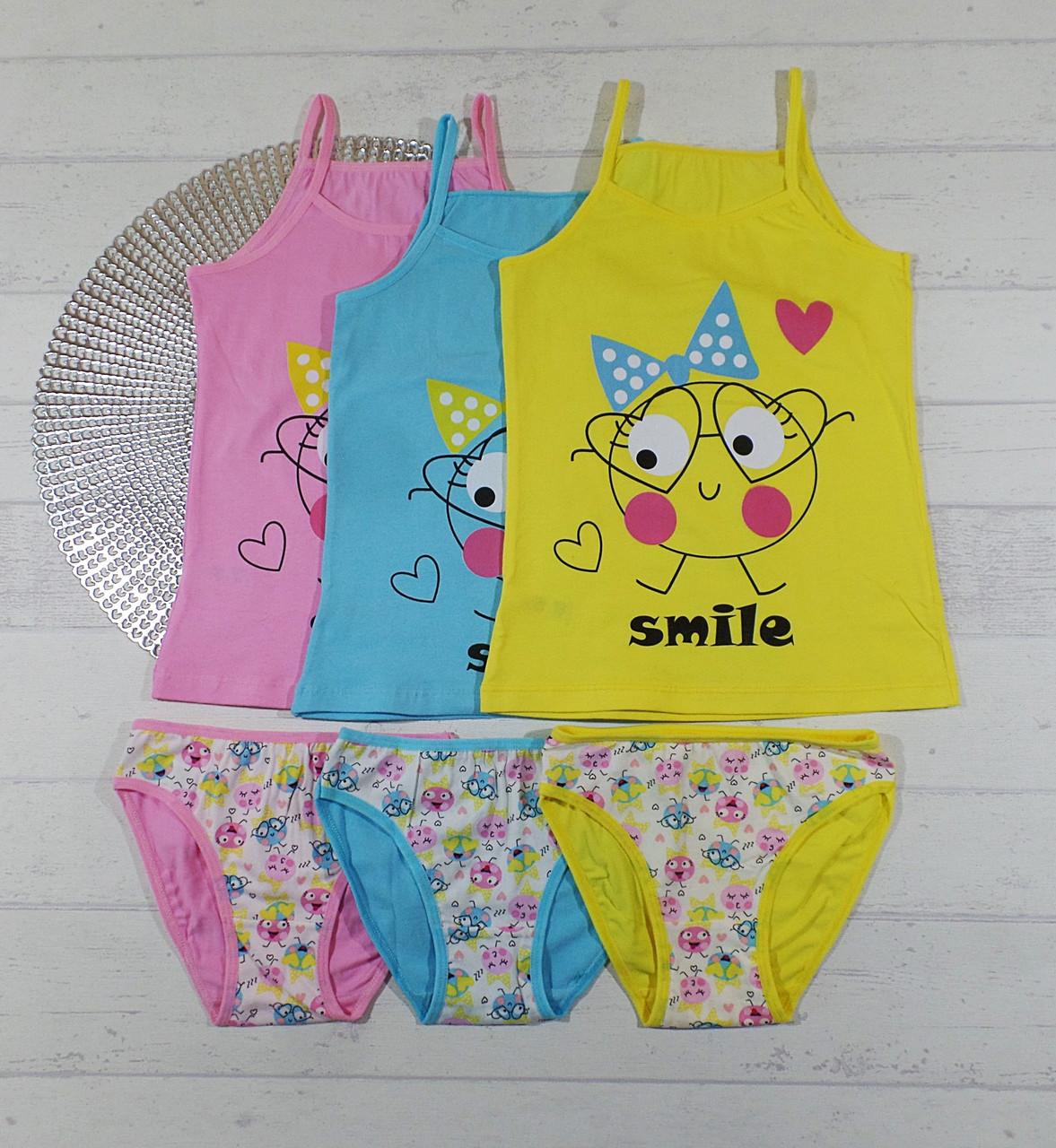 Комплект детского нижнего белья, трусики + майка для девочек 5-6 лет 655816127111