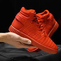 Мужские кроссовки Adidas Tubular Invader Red (адидас тубулар, красные)