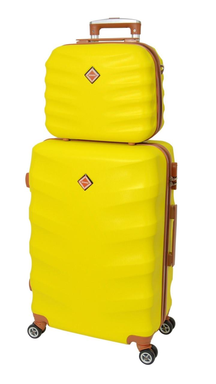 Комплект чемодан и кейс Bonro Next большой. Цвет желтый.