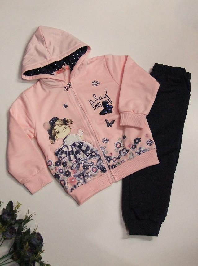 Теплый костюм на девочку арт 81896  розовый 98/104 GRACE .