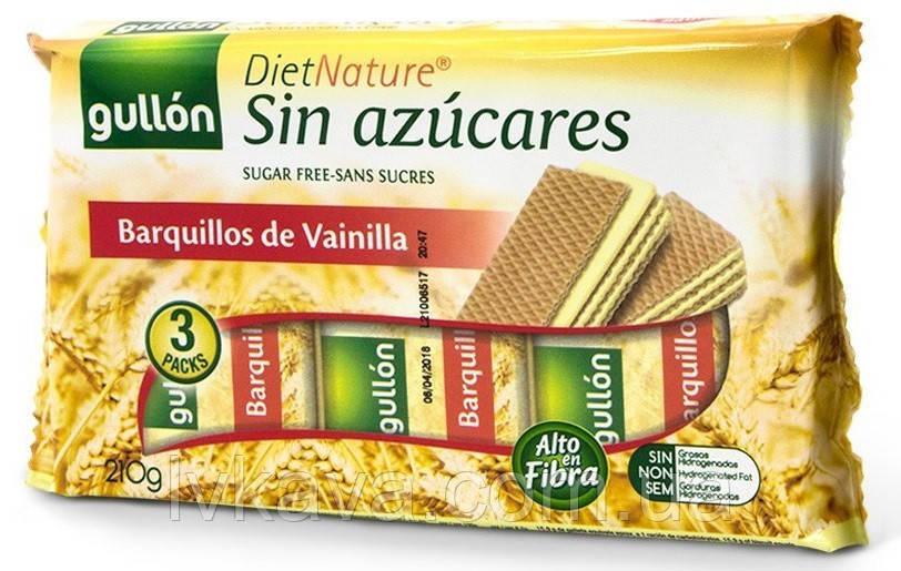 Вафли  Gullon Barquillos de Vainilla Diet Nature без сахара , 210 гр
