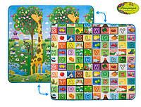 """Детский двусторонний коврик Limpopo """"Большая жирафа и Красочная азбука"""", 200х180 см, арт LP012-200, фото 1"""