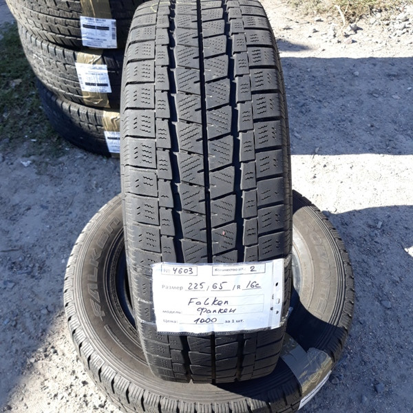 Шины б.у. 225.65.r16с Falken EuroWinter Van 01 Фалкен. Резина бу для микроавтобусов. Автошина усиленная. Цешка