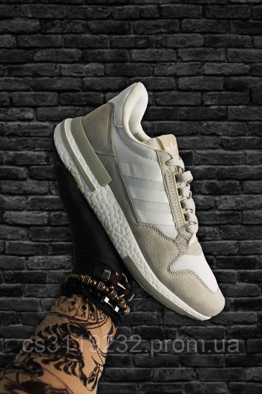Мужские кроссовки  Adidas ZX 500 Rm (бежевые)