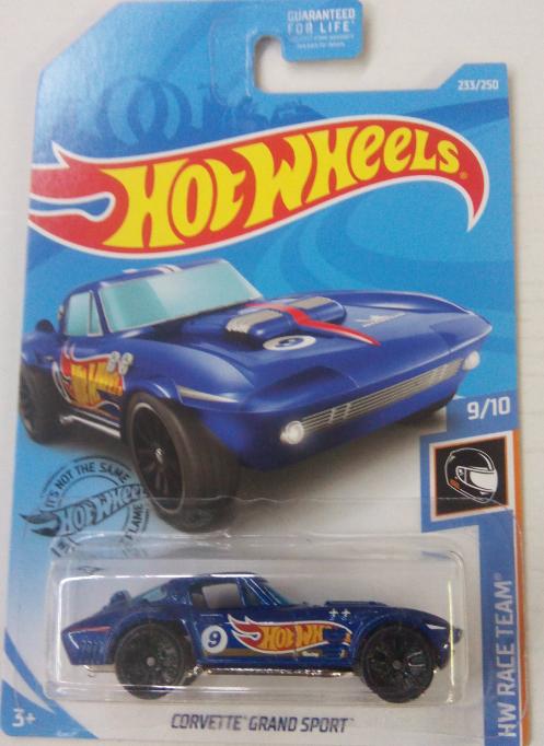 Машинка Hot Wheels 2019 Corvette Grand Sport