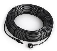 Двужильный кабель DAS 30Вт/м со встроенным термостатом и вилкой для обогрева труб и водостоков
