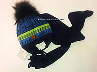 Детский зимний комплект шапка и шарф на мальчика .Польша(3-5 лет), фото 1