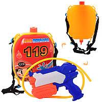 Водяной автомат M 5953 (36шт) 21см, с баллоном на плечи 24см, в кульке, 32-24-8см Н