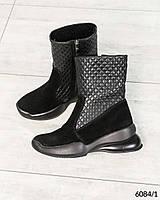 Женские Зимние ботинки Натуральная замша/кожа. Размер 36