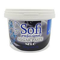 "Черная сахарная паста для шугаринга Sofi ""NERO"" Soft+, 500 г"