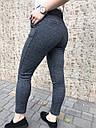 Брюки женские утепленные  с поясом серые, фото 7