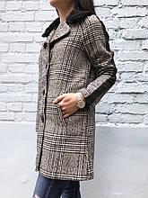 Пальто женское на осень Koton (серое)