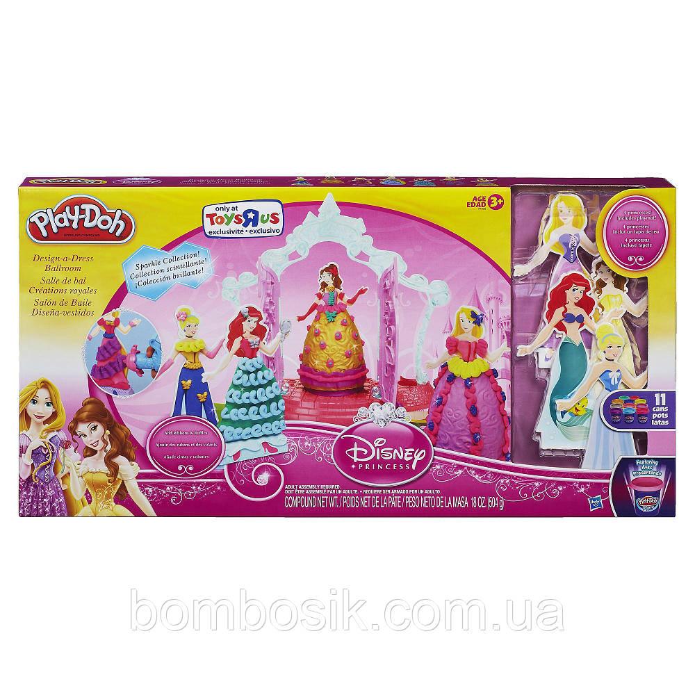"""*Игровой набор Плей До Play-Doh """"Принцессы Дисней, дизайн бальных платьев"""" A4890"""