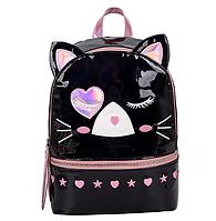 Рюкзак Котик голограммный черный, фото 1