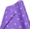 "Бумага упаковочная PCD-45 подарочная ""Розовый Горох на фиолетовом"", двухсторонний Крафт 0,7х8м 75г/м2"