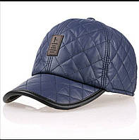Зимняя бейсболка синяя, фото 1