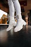 🔥 Ботинки ботильоны женские Both Gao High Boots White лакированные, фото 5