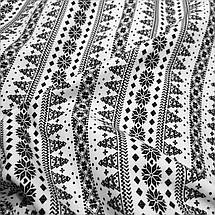 Трикотаж на меху принт елочка с орнаментом, фото 2