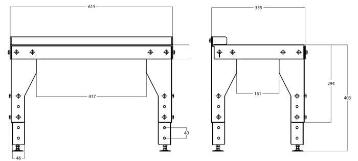Подставка под каминные топки UNIFLAM, INVICTA, LAUDEL серии 700, фото 2