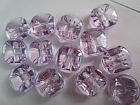 Камень-пуговица акриловая пришивная 16 мм сиреневая, 1 шт., фото 1