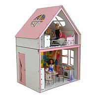 Домик для кукол Барби 3122 Загородный домик с мебелью, обоями и текстилем. 2 этажа