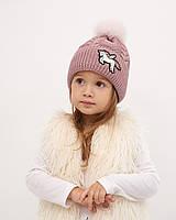 Детская вязаная шапочка Талиса микс
