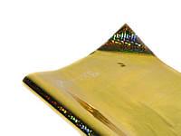 Фольга упаковочная пт404.2 (Золото полисилк HZ011-2) подарочная голограмма, 20листов 100х70см