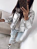 Стильная женская куртка на силиконе, фото 1