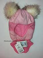 Детская зимняя шапка-шлем на девочку (4-6 лет), фото 1