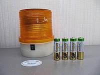 Проблесковый маячок LED 206 желтый, на батарейках. https://gv-auto.com.ua