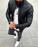 Стильная мужская куртка косуха черная