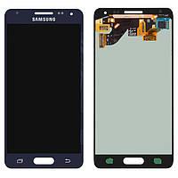 Дисплей Samsung G850F Galaxy Alpha, черный, с сенсорным экраном, оригинал (переклеено стекло)