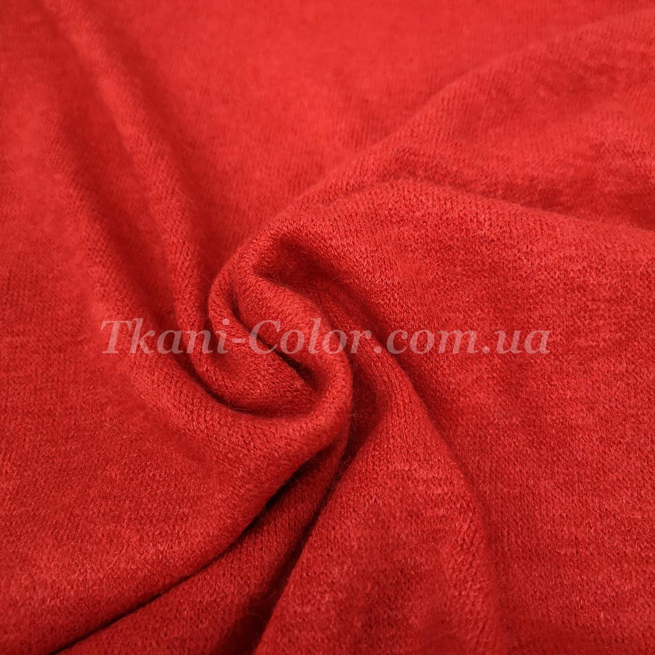 Трикотаж ангора арктика красная