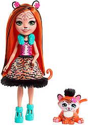 Кукла Энчантималс Танзи Тигр и маленький тигренок Тафт Enchantimals TANZIE Tiger