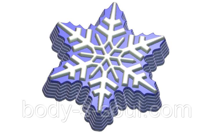 Пластиковая форма для мыла  снежна 180