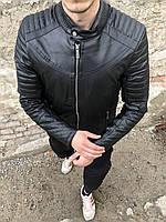 Мужская куртка косуха черная