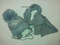 Зимний детский комплект шапка и шарф на девочку.(4-7 лет), фото 1