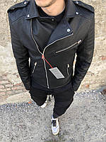 Крутая мужская куртка косуха черная