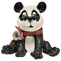 Фигурка-статуэтка панда «Чесни» коллекционная из керамики Англия, h-13 см 340-1064